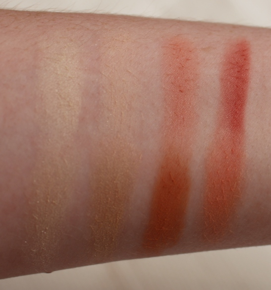 Gorgeous Cosmetics Blush and Highlighting Palette Swatches